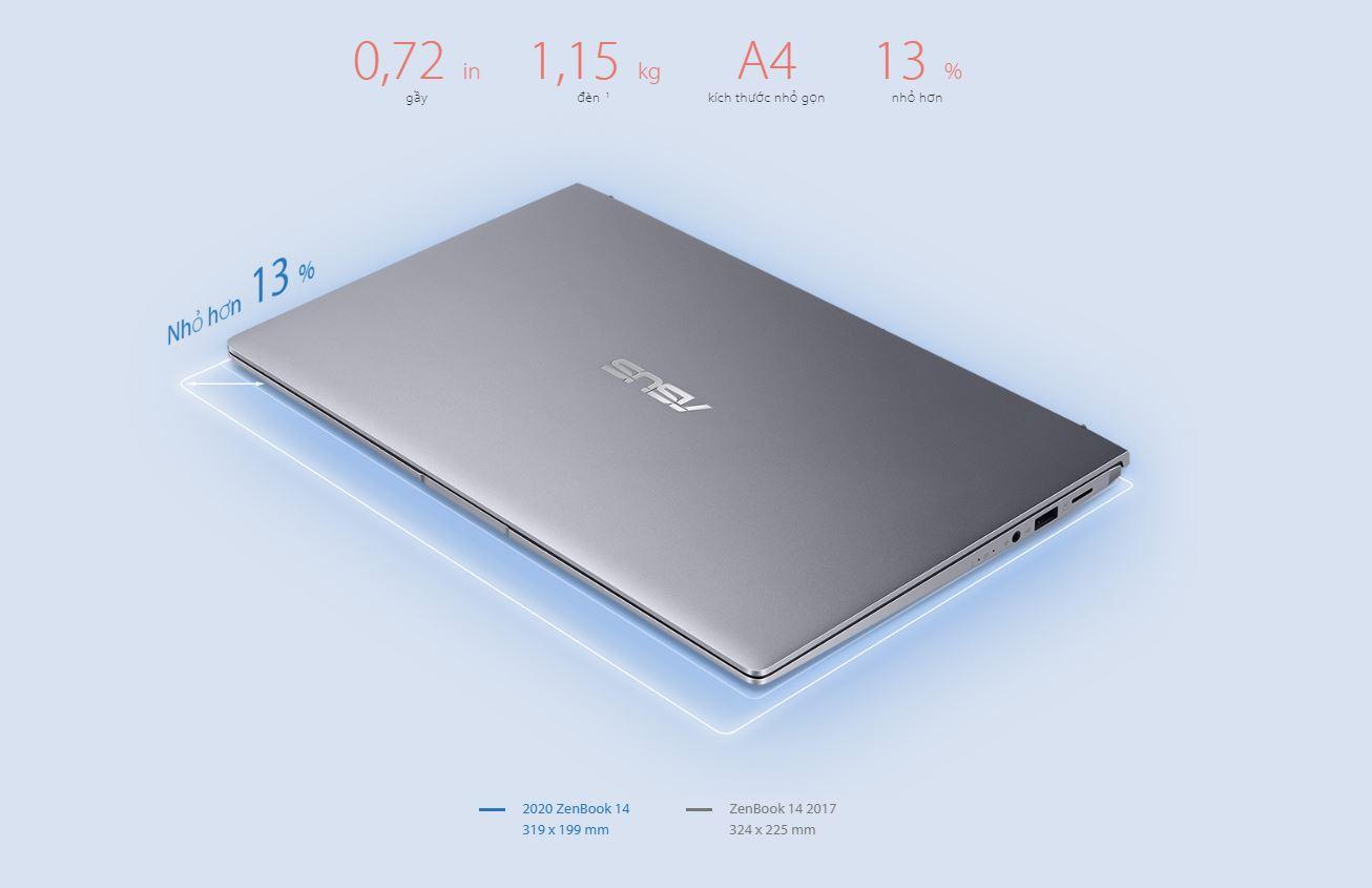 Asus Zenbook 14(Ryzen 5 - 4500U, 8GB, 256B,VGA )